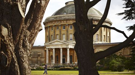 Visitors walk in front of the Rotunda at Ickworth, Suffolk. Picture: National Trust