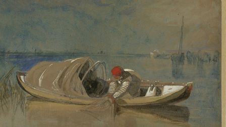 The Eel Boat, by John Sell Cotman, c1820s, pencil and watercolour and body colour on paper. Picture