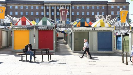 Norwich Market which has a few stalls open but will fully open with restrictions soon. Picture: DENI