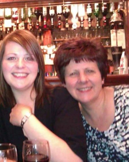 Jemma Thake, left, and her mum, Shirley, at the Ark Royal pub in Wells, around 2005. Picture: Suppli