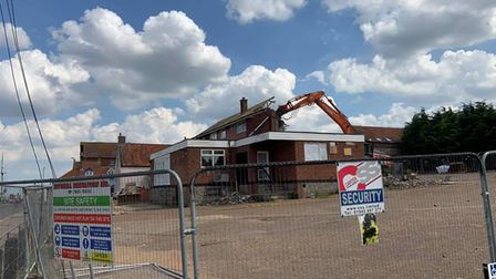 The former Ark Royal pub in Wells, which is now being demolished. Picture: Supplied by Jemma Thake