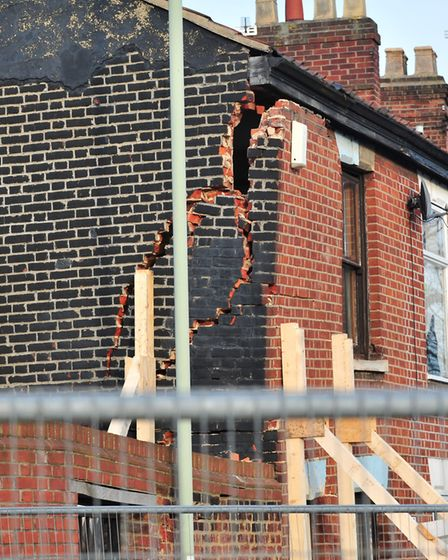 The end terrace house on Finklegate is in danger of collapsing.