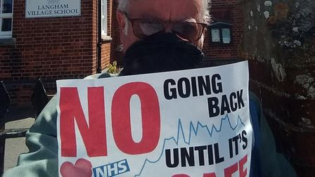 East Anglia Coronavirus Workers Support Group member Norman King. Picture: Norman King