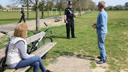Police want to ensure people stick to social distancing requirements. Picture: DENISE BRADLEY