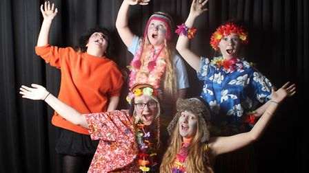 """Cast members from the 2014 drama production at Neatherd High School in Dereham, a double bill of """"Th"""