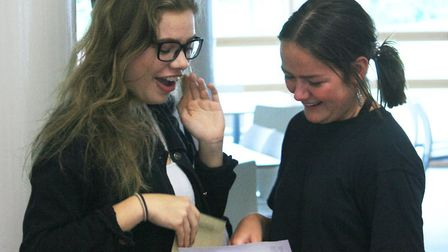 Students at Reepham High School and College celebrated their A-Level results. An Osted report parise