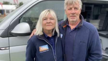 Alan Strong and Lynne Strong started Waveney Campers, a family-run business,15 years ago, Photo: Emi