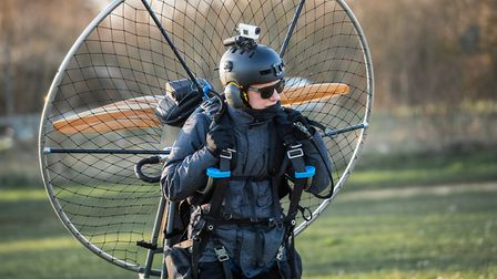 Daniel Jones, preparing for a paramotoring flight, the 26-year-old recently took a flight over Norwi
