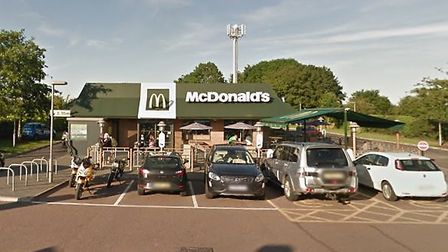 McDonald's at Blofield has allegedly been the cause of 'dangerous' queues on the A47. Picture: Googl