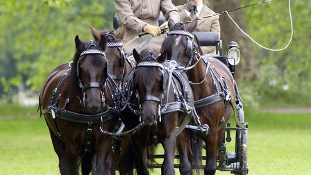 The Duke of Edinburgh before competing at the Royal Windsor Horse Show, Windsor, in 2002 Picture: Fi