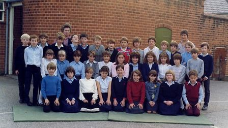 Carole Fields, back row, with one of her classes. Picture: Supplied by Tim Groves