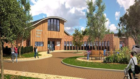 An artist's impression of the East Coast Hospice's new Margaret Chadd House. Picture: Courtesy of Ea