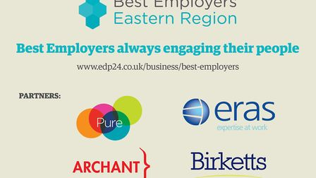 Best Employers was founded by Pure and Eras and is supported by Archant and Birketts