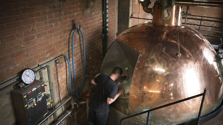 A tour gives a fascinating behind-the-scenes look at where beer comes from. Tthis copper kettle is i