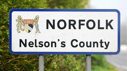 Border sign that marks the county's strong links to Nelson who was born and educated in Norfolk. Pic