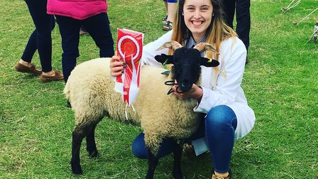 Easton College student Karen Welbourne was among the winning young handlers at the 2019 Royal Norfol
