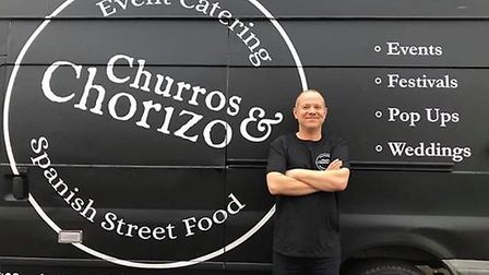 Nick Brewer, owner of Churros and Chorizo Spanish Street Food. Photo: Nick Brewer