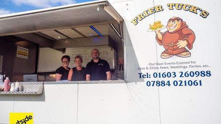 The team at Frier Tucks fish and chip van. Credit: Supplied by Outside Live