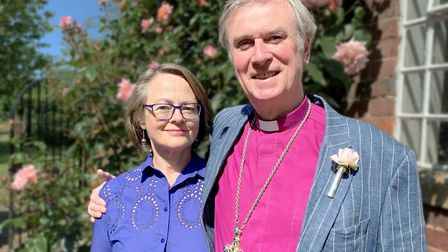 Bishop of Lynn the Rt Rev Jonathan Meyrick and his wife Rebecca. Picture: Diocese of Norwich