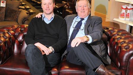 Hellesdon Leather and Cloth Furniture Co which is owned and run by father and son team Trevor and Jo