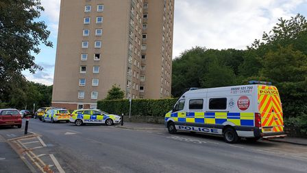 Police were called to Normandie Towers in Norwich on Friday. Picture: Victoria Pertusa