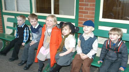 Scarning Primary School's WWII 'evacuation' on the Mid Norfolk Railway