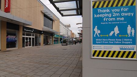 Warning signs have appeared around an almost deserted King's Lynn town centre, where so-called non-e