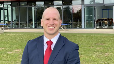 James Gosden is the new headmaster at North Walsham High School. Picture: Supplied by North Walsham