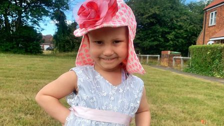 Little Esmé Lambert from Swaffham, was just a year old when she was diagnosed with a high-grade form