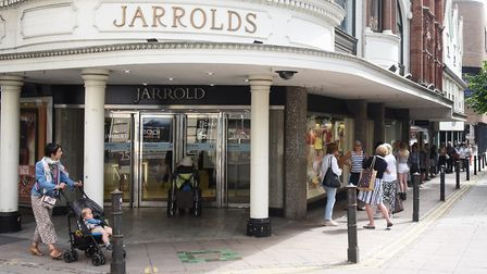 Shoppers return to the high street as Jarrold reopens. Picture: DENISE BRADLEY