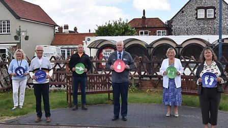 The laying of the decals in Sheringham. Picture: NNDC