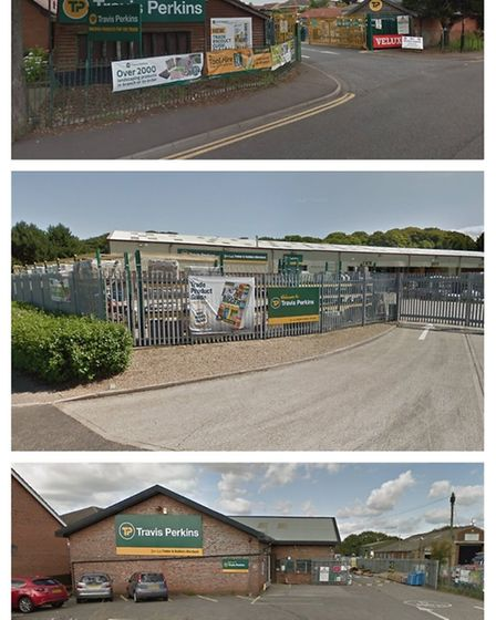 Travis Perkins branches in Diss, Cromer and Swaffham. Pictures: Google
