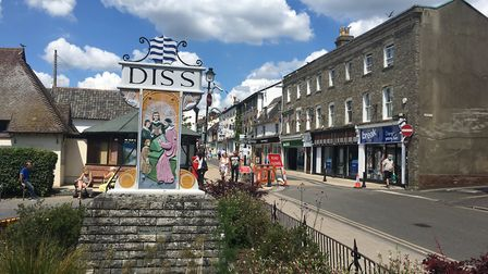 Shoppers returned to Diss town centre as non-essential businesses were permitted to reopen for the f