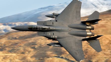 An F-15 fighter jet from RAF Lakenheath has crashed into the North Sea. Picture: Nigel Blake