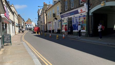 Temporary traffic restrictions have been put in place on High Street and Bridge Street in Downham Ma