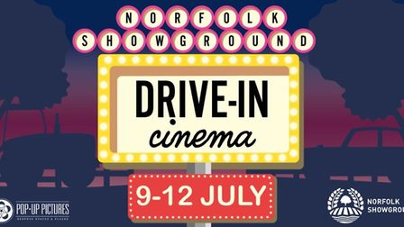 Drive-in cinema launches at the Norfolk Showground this summer with 12 films over four days Picture: