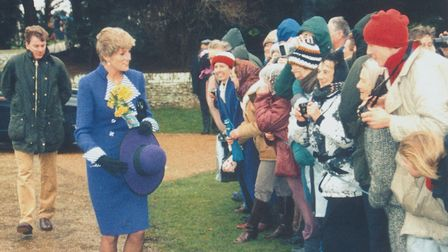 Diana at Sandringham on Christmas Day, 1990 Picture: Archant