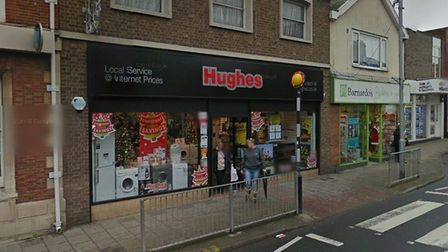 Hughes Electrical store on Gorleston High Street has closed permanently. Picture: Google Maps.