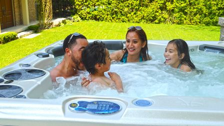 Hot tubs can be great social spaces for families. Picture: Hydropool Norfolk