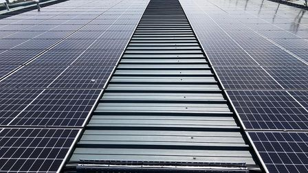 The solar panel installation at Nirvana Health and Fitness, on Pinbush Road in Lowestoft. Pictures: