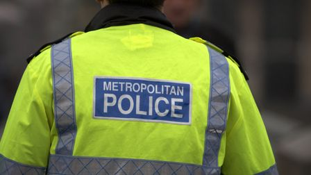 Back view of metropolitan police officer. Picture: Getty Images/iStockphoto
