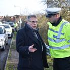 PCC Lorne Green with Inspector for Roads Policing, Jonathan Chapman in Great Yarmouth. Picture: ANTO