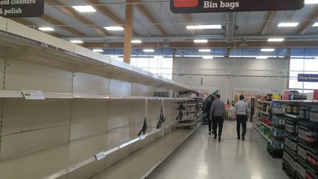 The 'panic buying' phase of the pandemic prompted a shortage of toilet paper. Picture: Chris Bishop