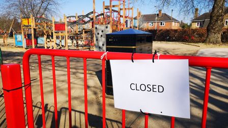 Playgrounds like this one in Eaton Park will remain shut. Pictures: BRITTANY WOODMAN