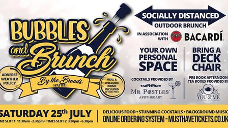 The event poster for Bubbles & Brunch Picture: Supplied