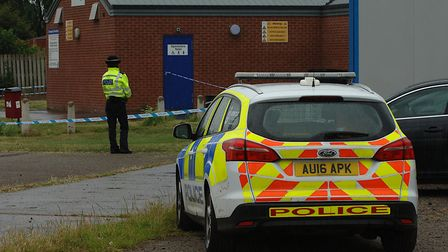 Police have cordoned off the Kingsway Pavilion, off Riversway, King's Lynn, following an incident in