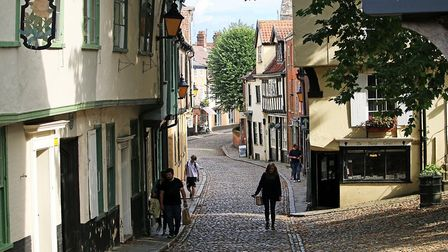Norwich's Elm Hill is one of the big visitor attractions. Pic: Archant