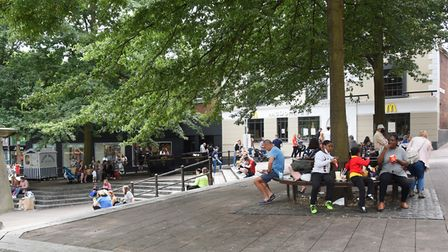 People were out and about in Norwich's Haymarket. Picture: DENISE BRADLEY
