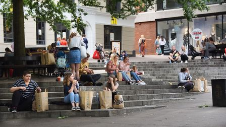People were out and about in Norwich. Pic: Denise Bradley