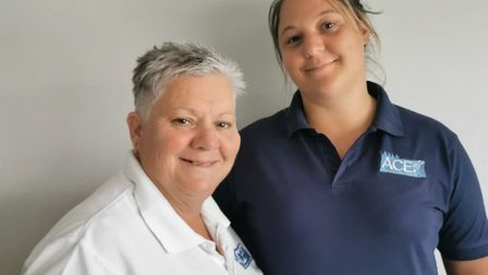 Lou Gardiner and her daughter Lauren Gardiner, ACE''s general manager. Picture: supplied by Lou Gard